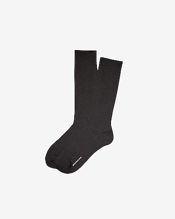fine ribbed dress socks