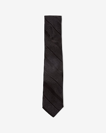 slim textured diagonal stripe silk tie