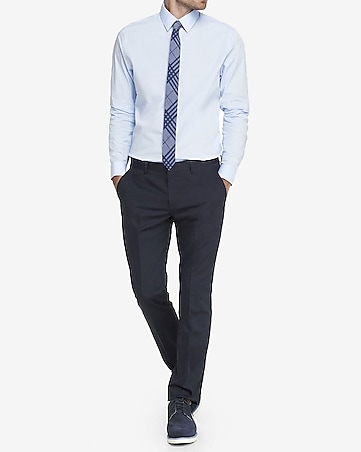 slim photographer navy cotton dress pant