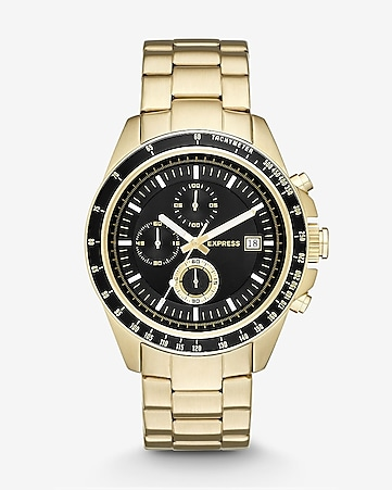 chronograph stainless steel watch- black