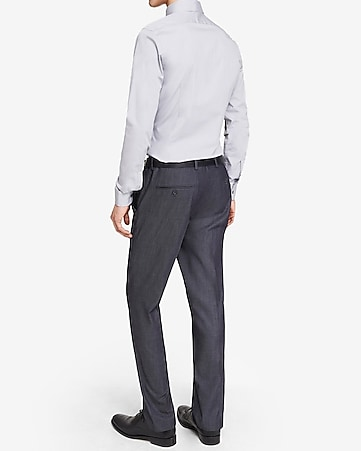 slim photographer twill navy suit pant