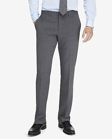 modern producer stretch wool blend gray suit pant