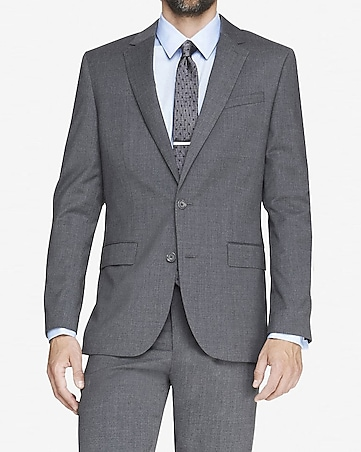 modern producer gray suit jacket
