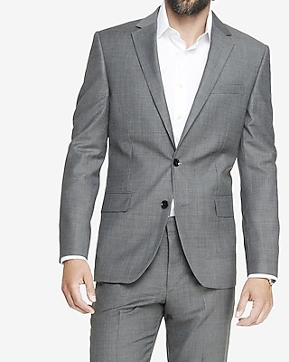 modern producer micro twill gray suit jacket