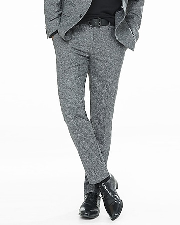 slim photographer donegal tweed gray suit pant