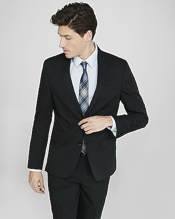 black cotton sateen photographer suit jacket