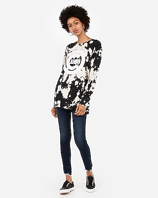 LACE SLEEVE GRAPHIC TEE - SEQUIN TIGER