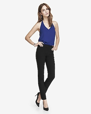 EXPRESS Womens High Twist Stretch Mid Rise Skinny Pant