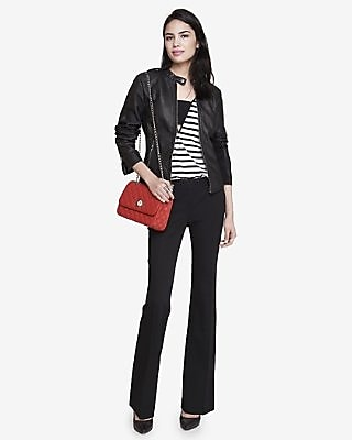 STUDIO STRETCH SLIM FLARE COLUMNIST PANT