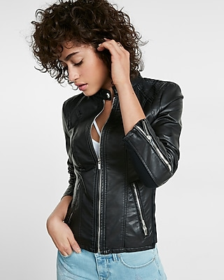 (MINUS THE) LEATHER DOUBLE PEPLUM MOTO JACKET