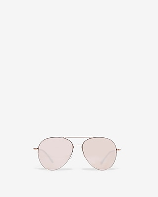 Oversized Brow Bar Aviator Sunglasses by Express