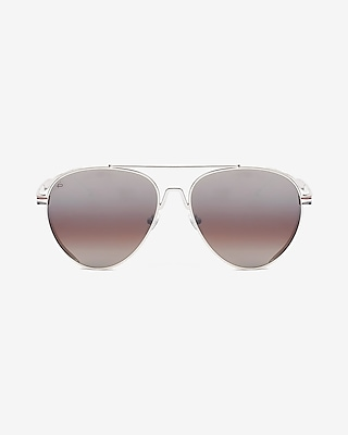 Privé Revaux Silver G.O.A.T. Sunglasses by Express