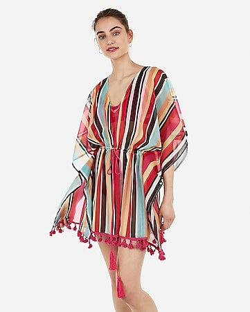 f5a19aba36 Cinched Waist Pullover Kimono Swim Cover-up | Express