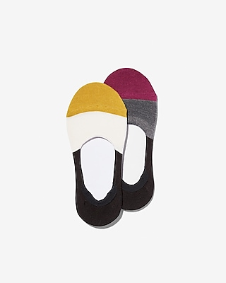 2 Pack Color Block Sport No Show Socks by Express