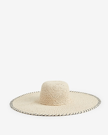 57baf371b98 Express View · oversized whipstitch floppy hat