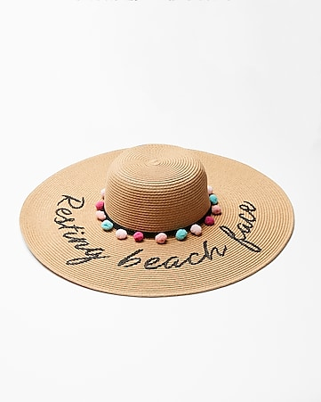 resting-beach-face-floppy-hat by express f62eca5cbd6