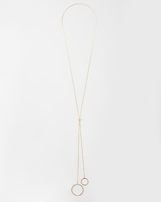 Circle Y Neck Necklace by Express