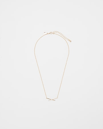 Express View Pave X Pendant Necklace
