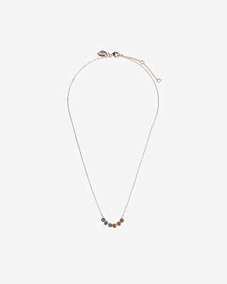 Cubic Zirconia Circles Necklace by Express