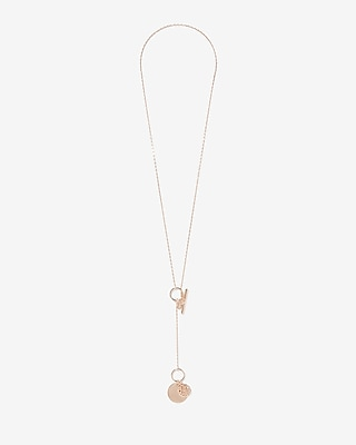 Disc Pendant Necklace by Express