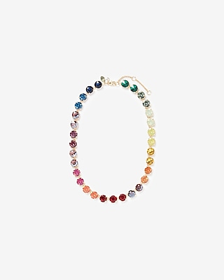 Rainbow Stone Necklace by Express