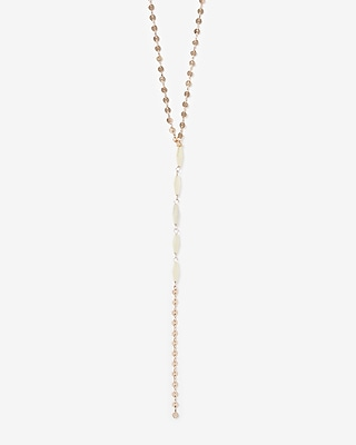 Disc Chain Y Neck Necklace by Express