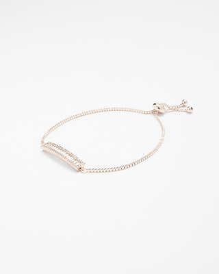 Cubic Zirconia Bar Pull Through Bracelet by Express