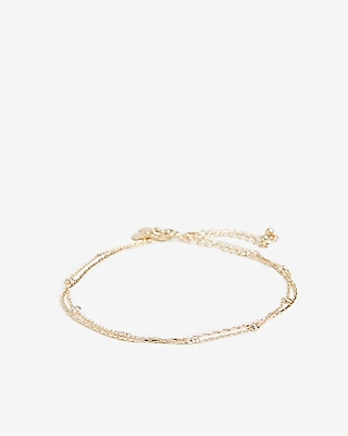 2 Pack Cubic Zirconia Anklet by Express