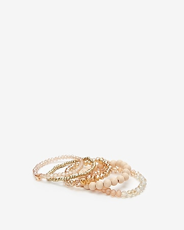350894b2b Express View · set of five beaded stretch bracelets