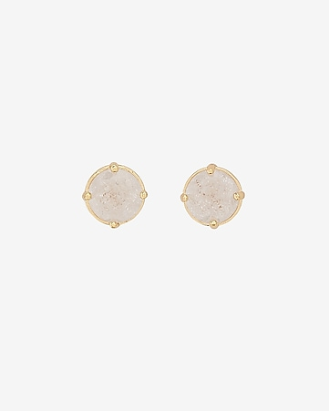 crackle post back stud earrings
