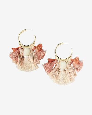 tassel chandelier drop earrings
