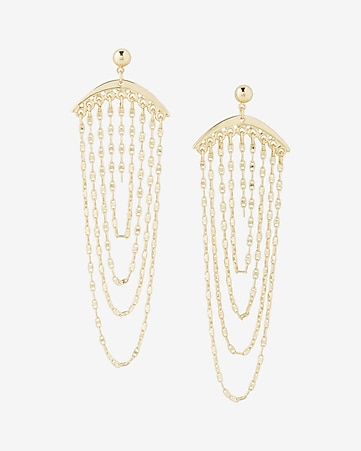 drape chain drop earrings