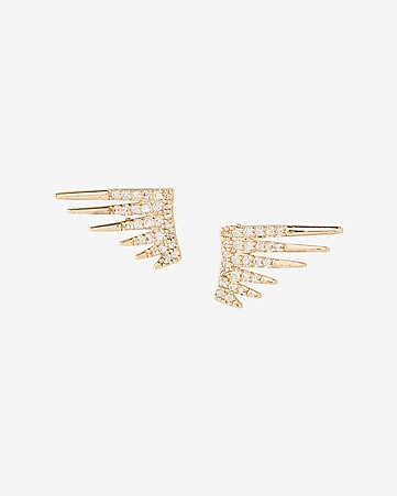 embellished spike post earrings