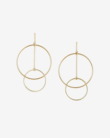 geometric interlock hoop earrings