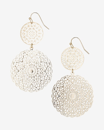 double filigree drop earrings