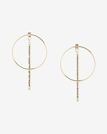 reach for the moon hoop earrings