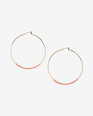 two tone wrapped hoop earrings