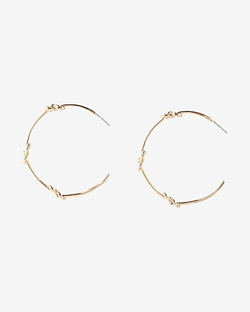 station knot hoop earrings