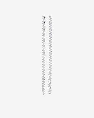 Cubic Zirconia Linear Drop Earrings by Express