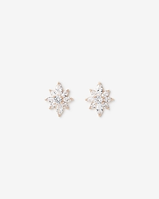 Flower Cubic Zirconia Stud Earrings by Express