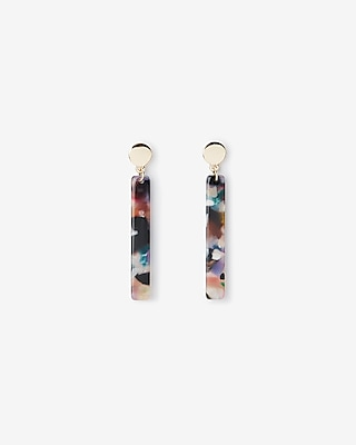 Resin Stick Circle Post Drop Earrings by Express