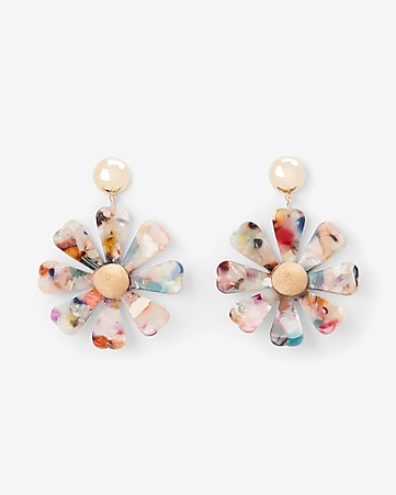 23a97706b Express View · resin daisy drop earrings