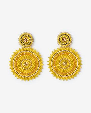 5e628756ed7d8e Express View · sparkle seed bead circle drop earrings