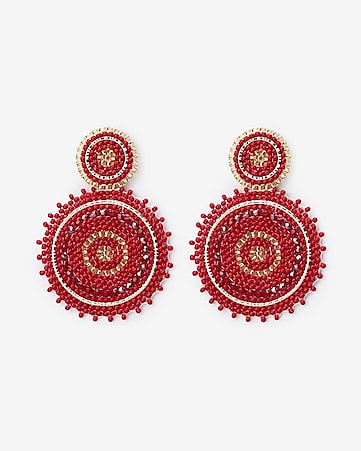 2265641b314 Express View · sparkle seed bead circle drop earrings