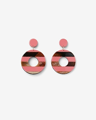 Striped Resin Drop Earrings by Express
