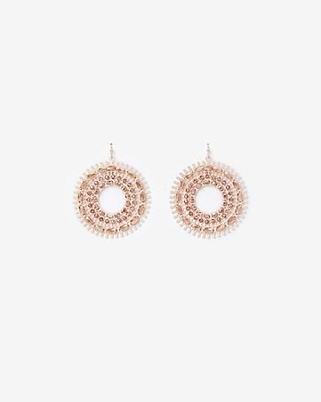7cab791c6 Express View · beaded filigree circle drop earrings
