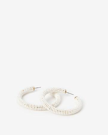 c3881fd29 Express View · seed bead wrapped hoop earrings