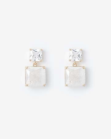 bbd27e917 Express View · square post back earrings