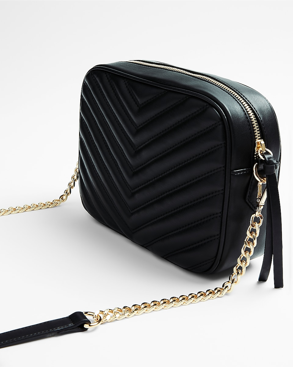 Leather quilted handbags and purses - Express View Who What Wear Pick Quilted Camera Bag
