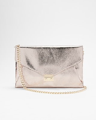 Metallic Front Lock Clutch by Express